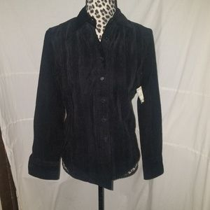 Black Faconnable button up size XS